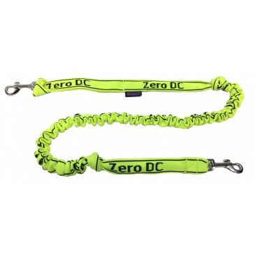 Zero DC Vodítko s tlumičem pro psa do 10kg  neon zelená (dvě karabiny)