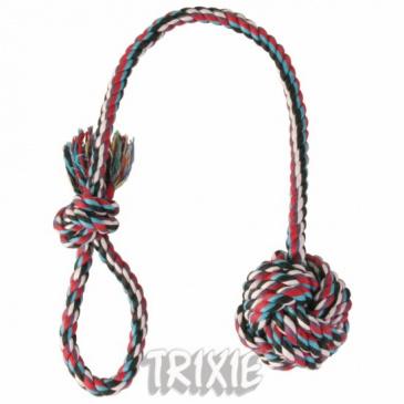 Přetahovadlo bavlněná koule Trixie 5,5cm/30cm