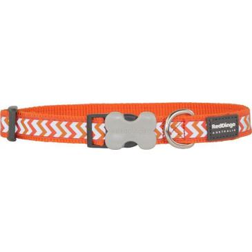 Obojek Red Dingo 15 mm x 24-37 cm - Ziggy reflexní oranžová