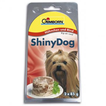 Shiny Dog konzerva 2 x 85 g Kuře s hovězím