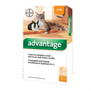 Advantage pro malé kočky a králíky, 40mg