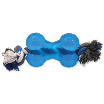 DF Strong kost guma modrá s provazem 13,9cm