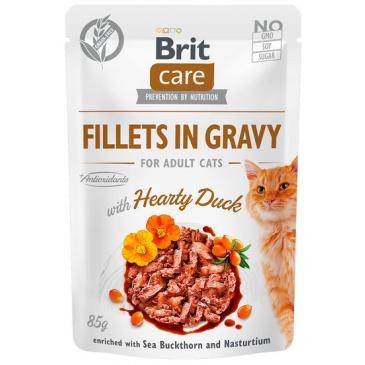 Kaps. Brit Care Cat Fillets in Gravy Duck 85g