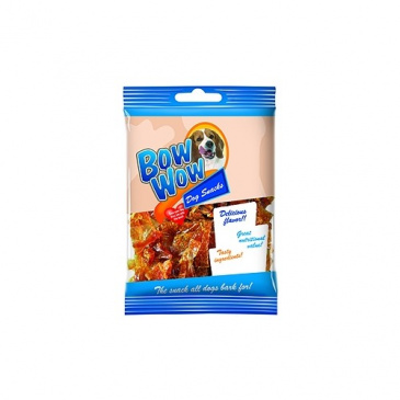 Bow Wow Chipsy s drůb.játry-kolagenové 60g