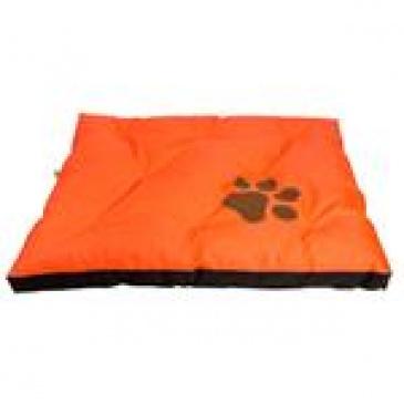 Matrace nylon Boseň oranžová neon s tlapou 90x60x12 cm