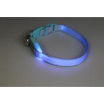 Svítící Obojek BaF Modrý 15mmx18-28cm