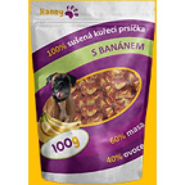 Hanny Food Sušená kuřecí prsa s banánem 100g