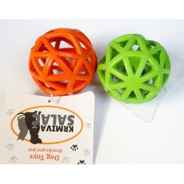 Děrovaný míč zelený 9cm