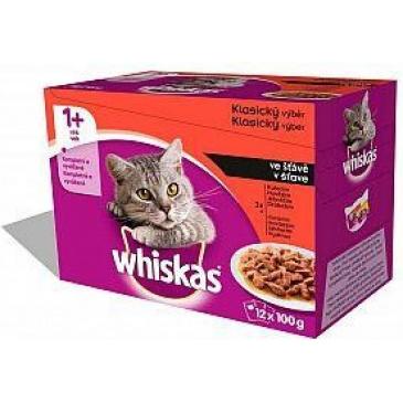 Whiskas kapsička 1200g Klasický výběr ve šťávě