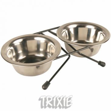 Miska Trixie nerez stojánek 2x0,2l
