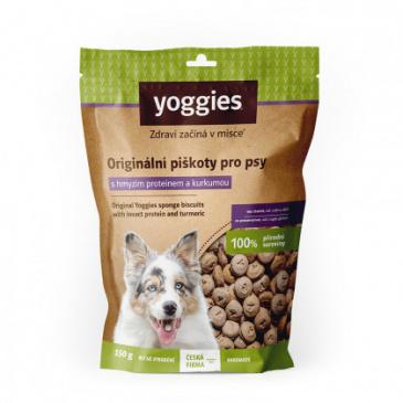 Yoggies piškoty s hmyzím proteinem a kurkumou bez lepku 150g