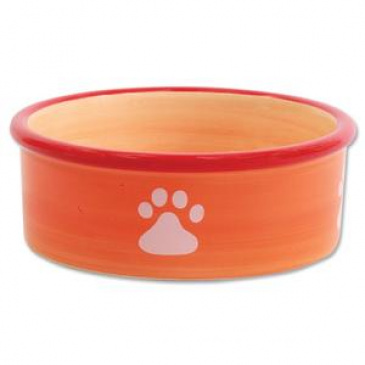 Miska MAGIC CAT keramická kočičí tlapka 12,5 cm oranžová