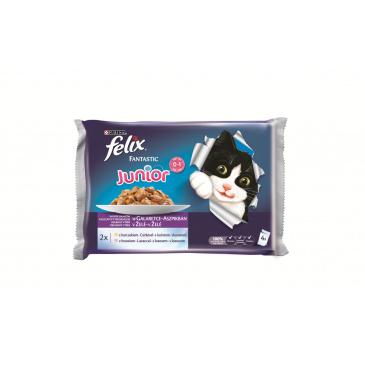 FELIX Fantastic Junior kuře, losos 4x100g