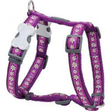 Postroj Red Dingo 12 mm x 30-44 cm -Daisy Chain Purple